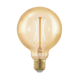 11693 4w Dimmable LED Medium Golden Vintage Warm White ES/E27 Globe Style Bulb