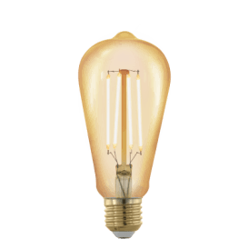 11696 4w Dimmable LED Medium Golden Vintage Warm White ES/E27 Squirrel Cage Style Bulb