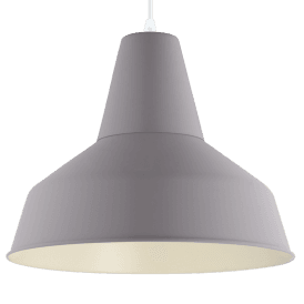 49064 Somerton-P Single Light Ceiling Pendant in Pastel Grey Finish