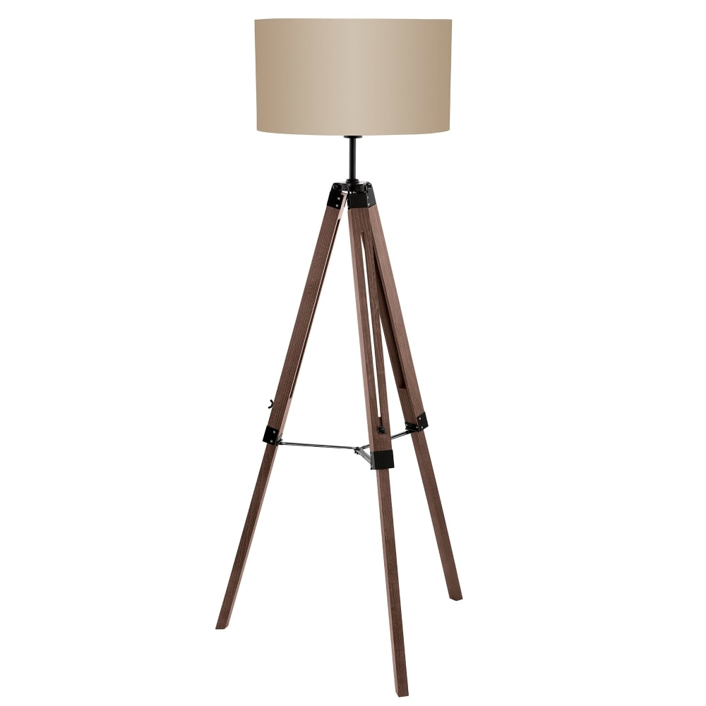 Superieur Lantada Single Light Tripod Floor Lamp In Nut Finish
