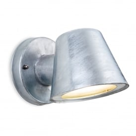 Elan LED Single Light Wall Fitting In Galvanised Finish
