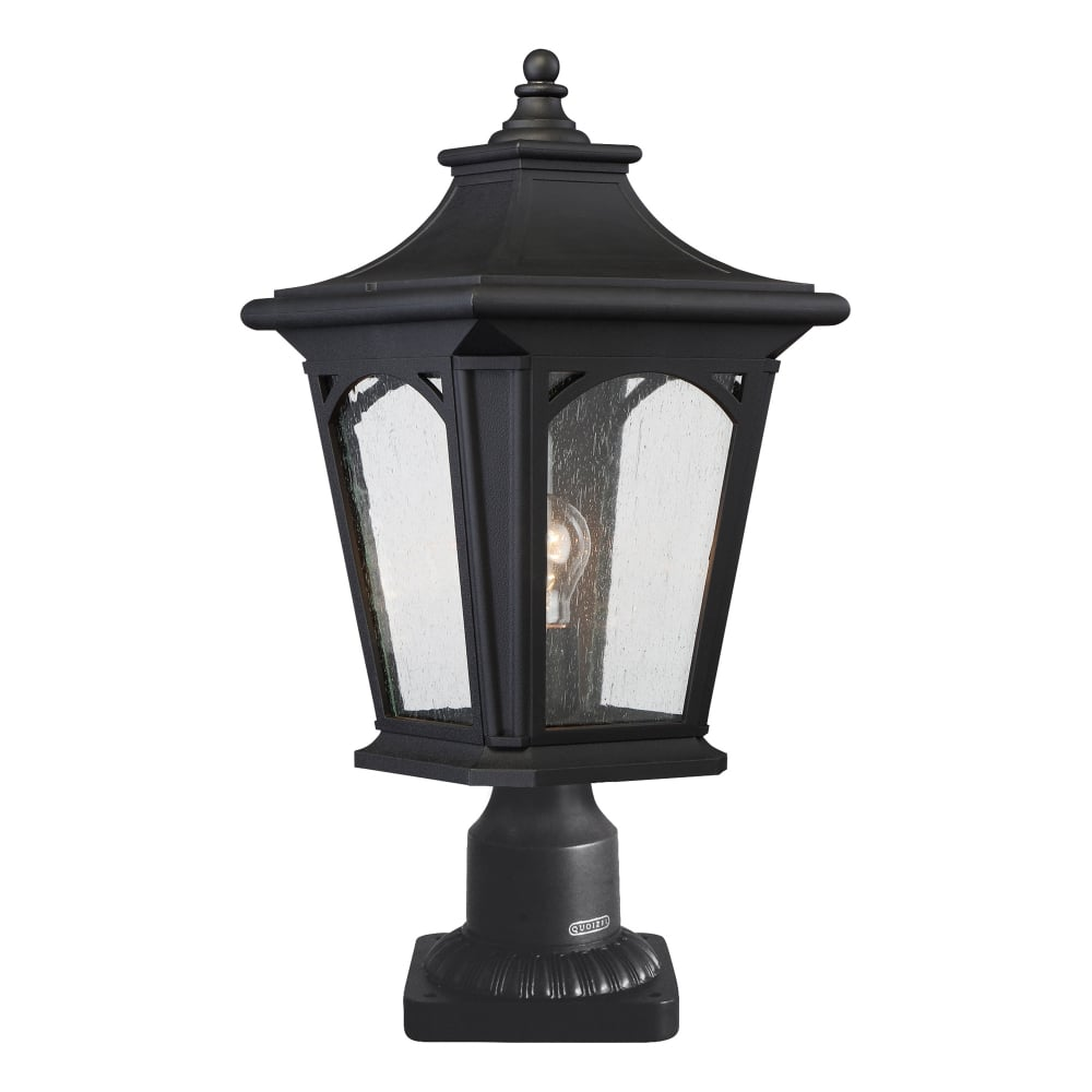 Elstead York Pedestal Lantern Light Black: Elstead Lighting Bedford Coastal Single Light Pedestal