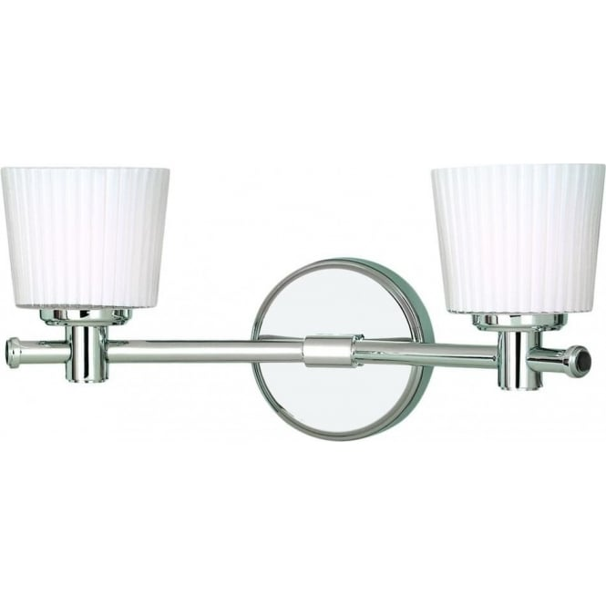 Binstead 2 light halogen bathroom wall fitting