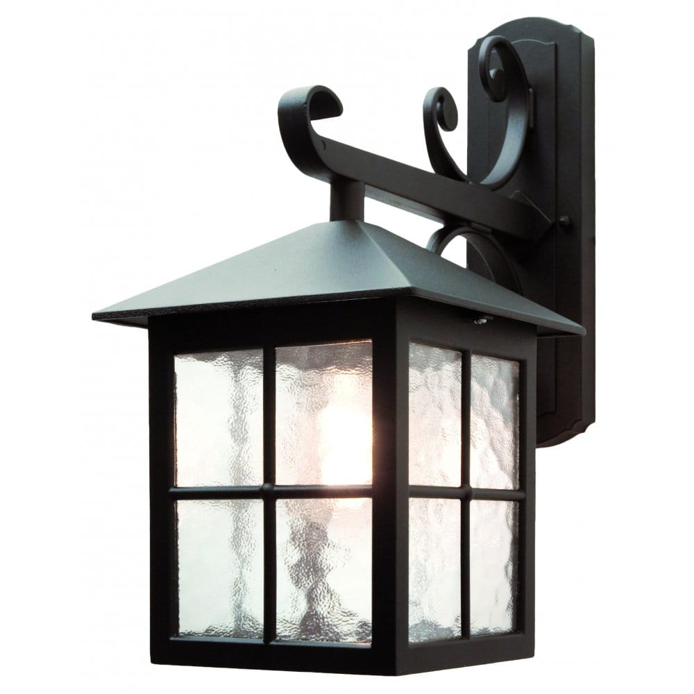 Elstead Lighting Bl19 Winchester Single Light Outdoor Wall Lantern In Black Finish With Scroll Detail Castlegate Lights