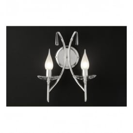 Brightwell 2 Light Wall Fitting with Polished Nickel Finish
