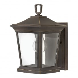 Bromley Single Light Small Wall Lantern in Oil Rubbed Bronze Finish With Clear Glass