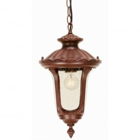 CC8/S Chicago Single Light External Ceiling Pendant with a Rusty Bronze Patina