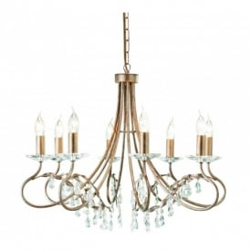 Christina 8 Light Chandelier with a Silver Gold Finish