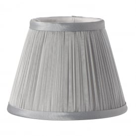Clip on Candle Bulb Pleated Grey Shade