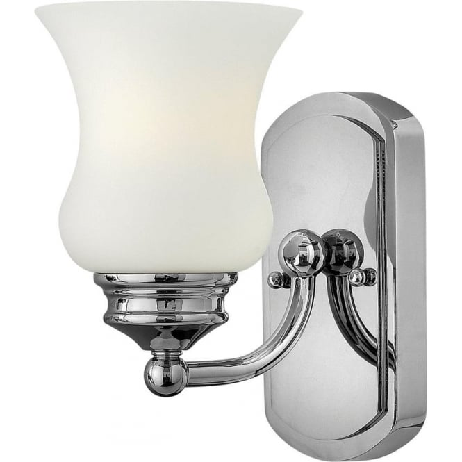 Constance single light bathroom wall fitting in polished chrome