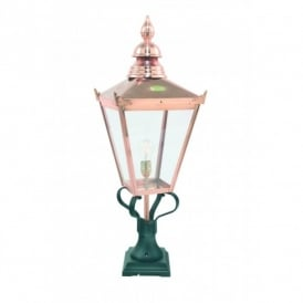 CS3 Norlys Chelsea Single Light Small Outdoor Lantern Head in Copper Finish