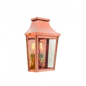 CS7/2 Norlys Chelsea Single Light Outdoor Wall Fitting in Copper Finish