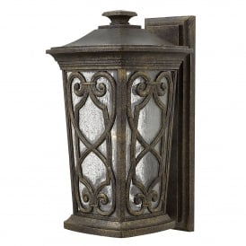 Enzo Single Light Medium Wall Lantern Made From Die Cast Aluminium in an Autumn Finish