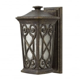 Enzo Single Light Small Wall Lantern Made of Die Cast Aluminium in Autumn Finish