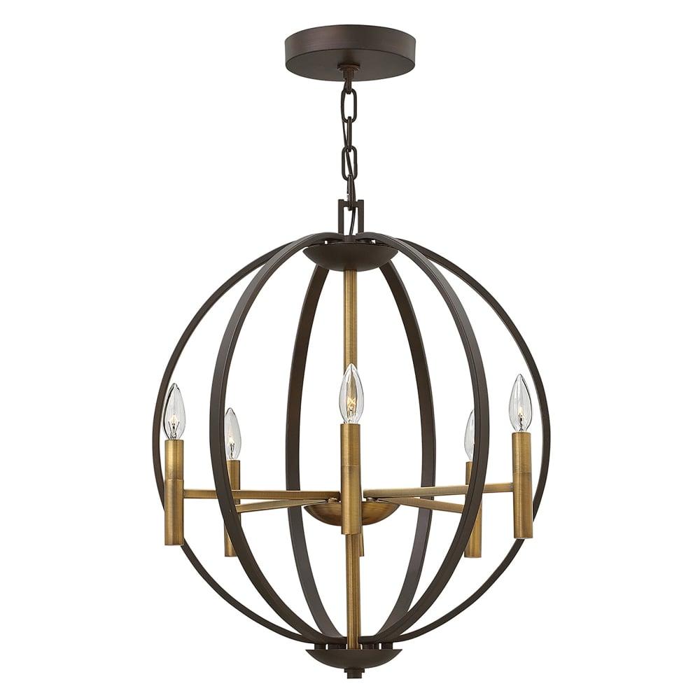 Elstead lighting euclid 6 light pendant chandelier in spanish bronze euclid 6 light pendant chandelier in spanish bronze finish aloadofball Images
