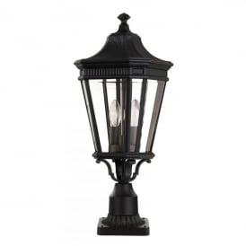 FE/COTSLN3/M BK Cotswold Lane 2 Light Medium Pedestal in Black Finish (Outdoor)
