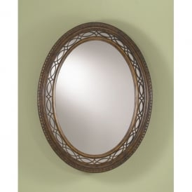 FE/DRAWINGRM MIR Feiss Drawing Room Decorative Mirror with a Walnut Effect Finish