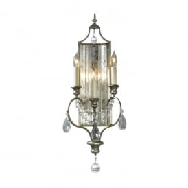 FE/GIANNA3W Feiss Gianna 3 Light Wall Sconce a Gilded Silver Finish