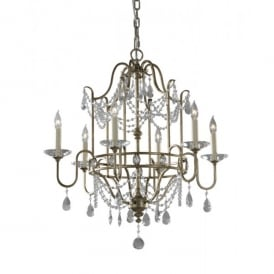 FE/GIANNA6 Feiss Gianna 6 Light Chandelier Fitting with a Gilded Silver Finish
