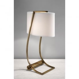 FE/LEX TL BB Feiss Lex Single Light Desk Lamp in a Bali Bronze Finish with USB Charging Port