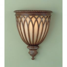 FE/STIRLINGCASW1 Feiss Stirling Castle Single Light Wall Sconce in British Bronze