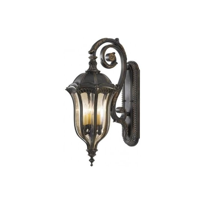 Elstead Lighting Feiss Baton Rouge Large 4 Light Outdoor Wall Fitting With A Walnut Finish