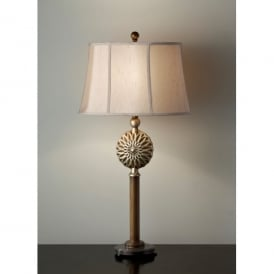Feiss Davidson Single Light Table Lamp in a Firenze Gold Finish