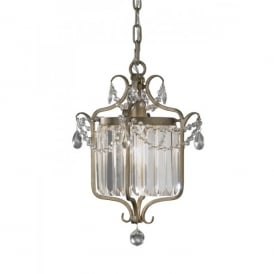 Feiss Gianna Single Light Chandelier Fitting with a Gilded Silver Finish