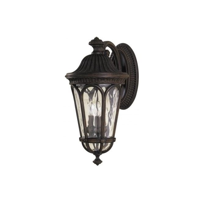 Elstead Lighting Feiss Regent Court Large 3 Light Outdoor Wall Fitting with a Walnut Finish