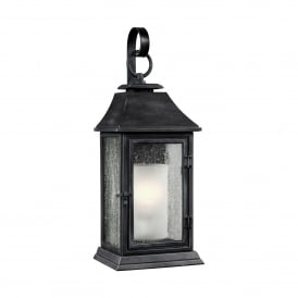 Feiss Shepherd Single Light Large Outdoor Wall Fitting In Dark Weathered Bronze Finish