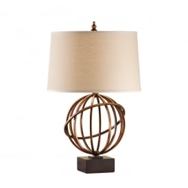 Feiss Spencer Single Light Table Lamp with a Firenze Gold Finish