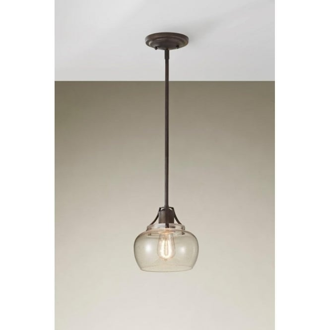 Elstead lighting feiss urban renewal single light seeded glass feiss urban renewal single light seeded glass pendant with rustic iron finish mozeypictures Choice Image