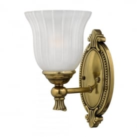 Francoise Single Light Bathroom Wall Fitting Made of Solid Brass in Burnished Brass Finish
