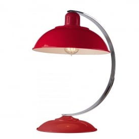 FRANKLIN RED Franklin Single Light Retro Desk Lamp in Traffic Red Enamel Finish