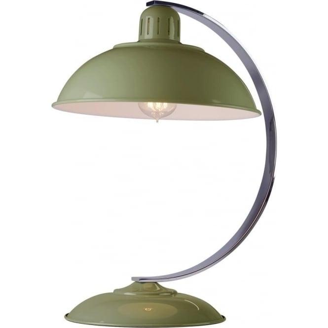 Franklin Single Light Retro Desk Lamp In Reed Green Enamel Finish