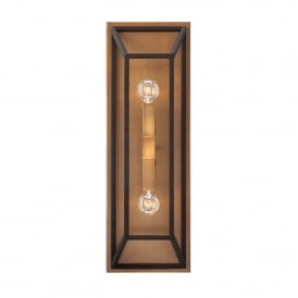 Fulton 2 Light Wall Fitting in Bronze Finish