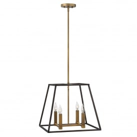 Fulton 4 Light Ceiling Pendant in Bronze Finish