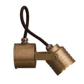 Garden Zone Elite 3 Light LED Solid Brass Outdoor Wall Spotlight in a Polished Finish