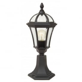 Garden Zone Ledbury Single Light Black Wall Pedestal