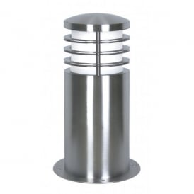 Garden Zone Sandbanks Single Light Low Energy Mini Bollard in Stainless Steel