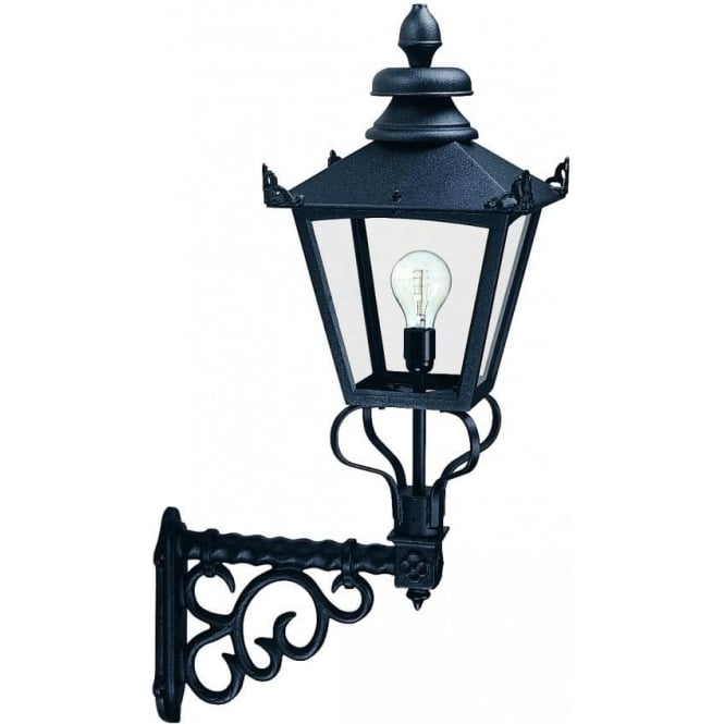 Lantern Type Wall Lights : Elstead Lighting Grampian Single Light Wall Lantern in Black Finish - Lighting Type from ...