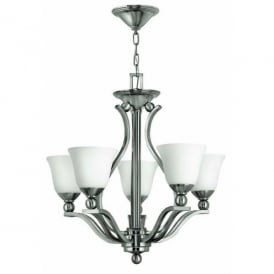 Hinkley Bolla 5 Light Chandelier Style Ceiling Fitting in Brushed Nickel