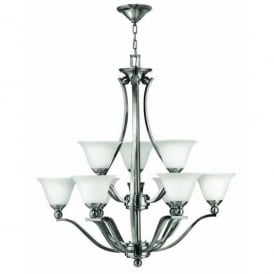 Hinkley Bolla 9 Light Chandelier Style Ceiling Fitting in Brushed Nickel