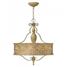 Hinkley Carabel 3 Light Ceiling Pendant In Brushed Champagne Finish