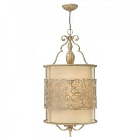 Hinkley Carabel 4 Light Ceiling Pendant In Brushed Champagne Finish