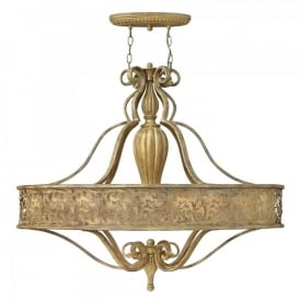 Hinkley Carabel 6 Light Ceiling Chandelier In Brushed Champagne Finish