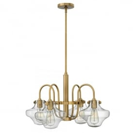 Hinkley Congress 4 Light Ceiling Pendant In Brushed Caramel Finish