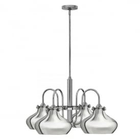 Hinkley Congress 4 Light Ceiling Pendant In Chrome Finish And Metal Shade