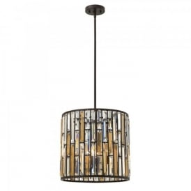 Hinkley Gemma 3 Light Ceiling Pendant In Vintage Bronze Finish