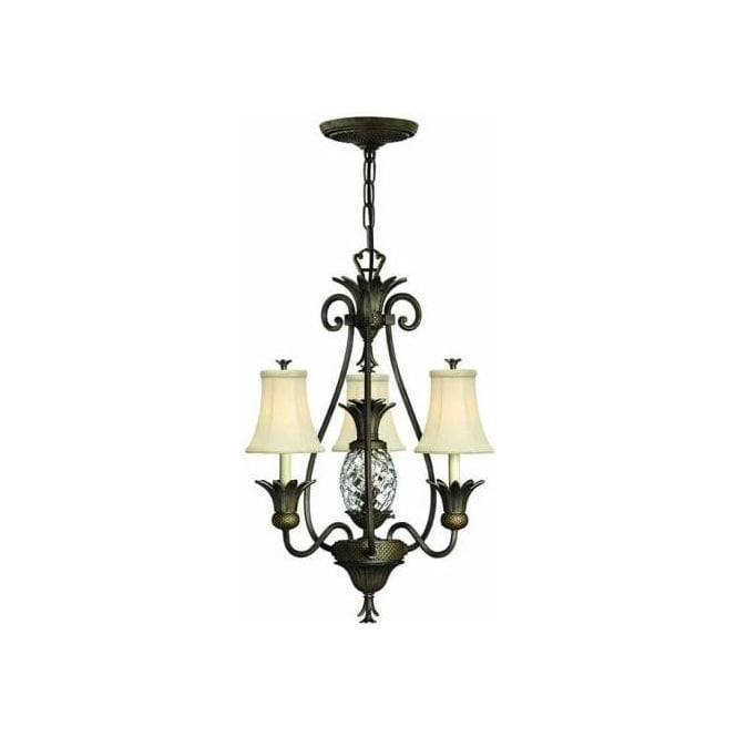 Hinkley Plantation 4 Light Chandelier Style Ceiling Fitting in Pearl Bronze Finish  sc 1 st  Castlegate Lights & Elstead Lighting Hinkley Plantation 4 Light Chandelier Style Ceiling ...